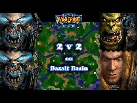 Grubby | Warcraft 3 The Frozen Throne | UDx2 v Orc & HU - Fun 2v2 on Basalt Basin