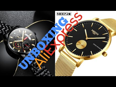 UNBOXING RELÓGIO NIBOSI 2361 / 2358 ALIEXPRESS | WATCH NIBOSI | RENDA EXTRA