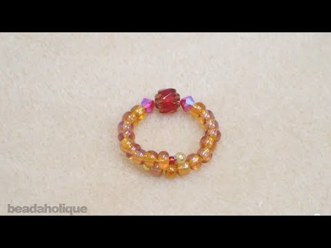 How to Make a Beaded Memory Wire Ring - YouTube