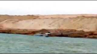 فيديو تاريخى أول قارب صيد فى قناة  السويس الجديدة مايو 2015