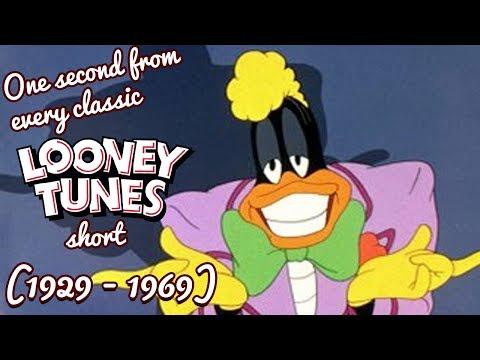 In questo video, un secondo di ogni cartone dei Looney Tunes dal 1929 al 1969