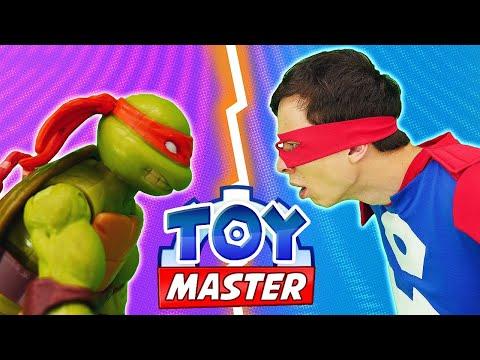 Видео игры для мальчиков - Черепашки Ниндзя против Той Мастера! – Шоу для детей с игрушками.
