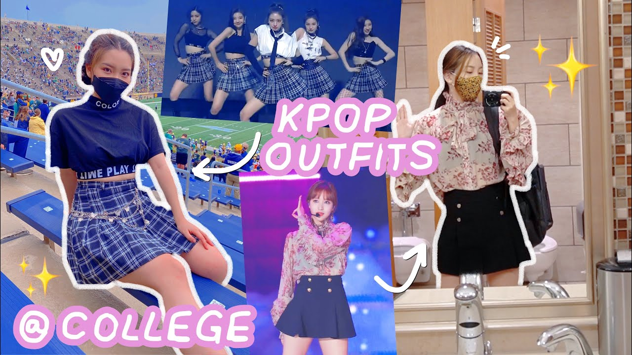 i wore *KPOP stage outfits* to COLLEGE for a week