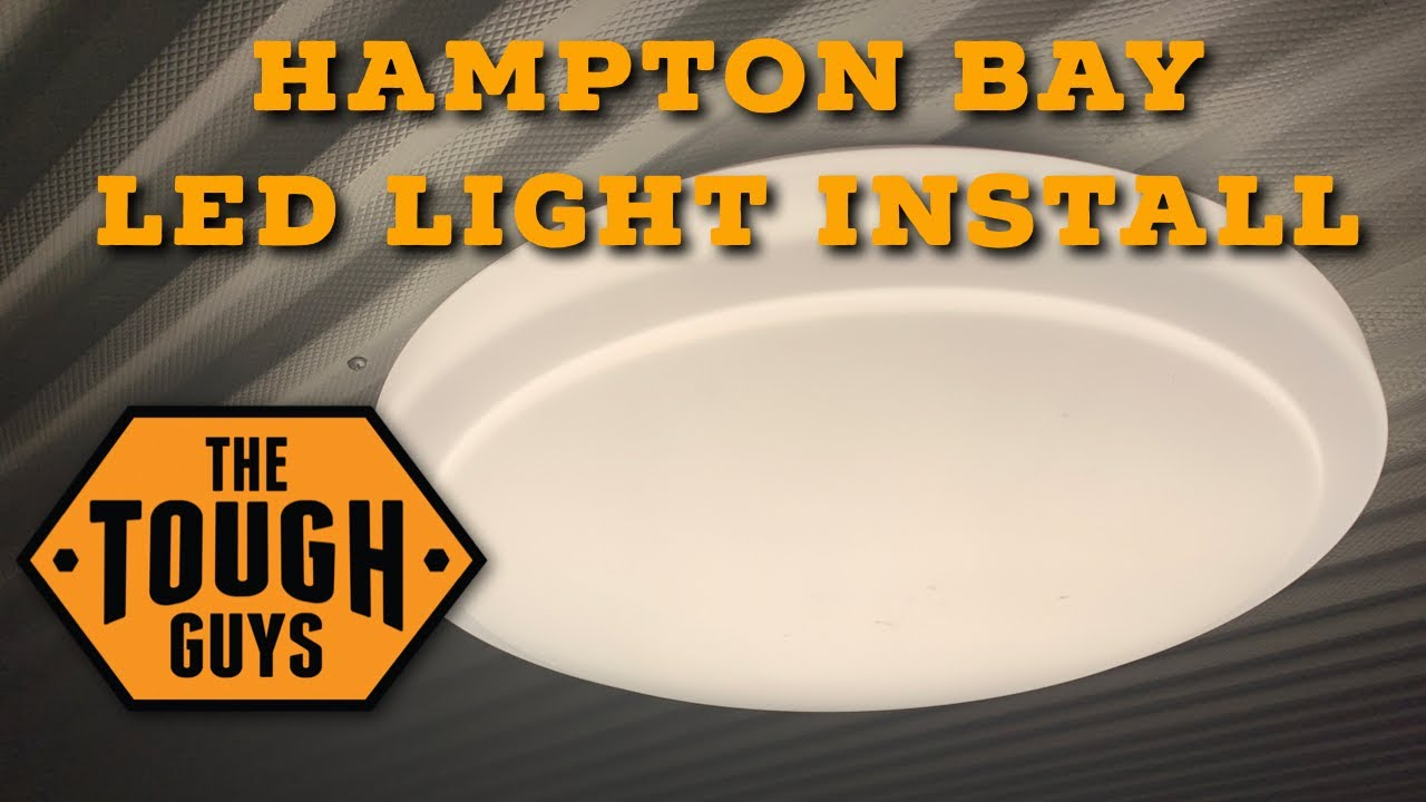 Install Hampton Bay 20in Led Light