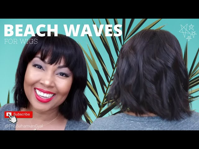 Beach Waves On Bob Wig | Beach Waves Hair Tutorial | My First Wig Bob Tutorial | This Bahamian Gyal