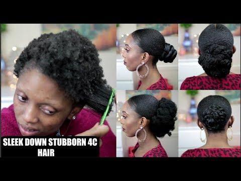 4C NATURAL HAIR DONT SLEEK DOWN?WATCH ME SLEEK MY 4C HAIR|6 BUN STYLES