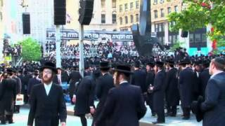 Ultra Orthodox Jews From Williamsburg, Brooklyn, Protest Against New Israeli Draft Policy