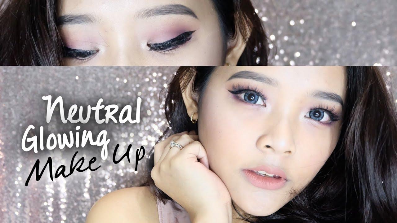 Glowing Neutral Makeup Tutorial Ririeprams Youtube Viva Eye Liner Pencil Pensil Alis Original 13gr