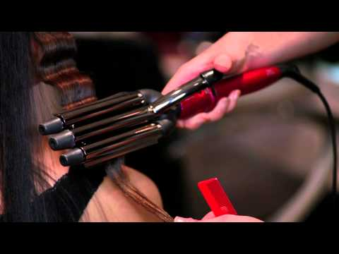 Creating waves with a triple barrel waver
