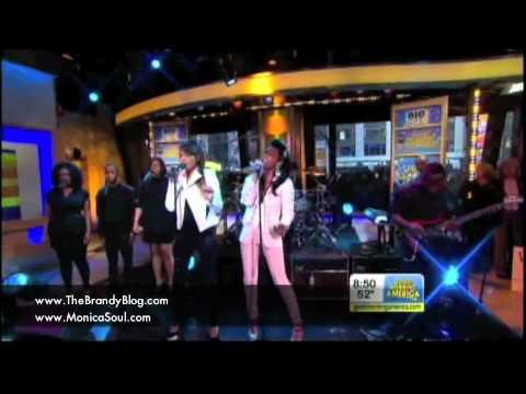 Brandy & Monica: Good Morning America Performance/Concert GMA - April 10, 2012