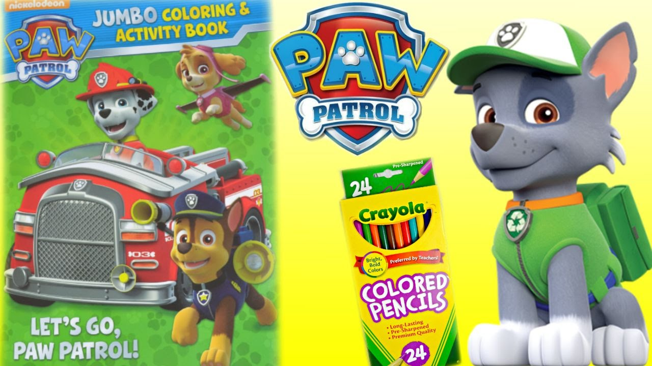 paw patrol coloring book paw patrol coloring pages rocky youtube
