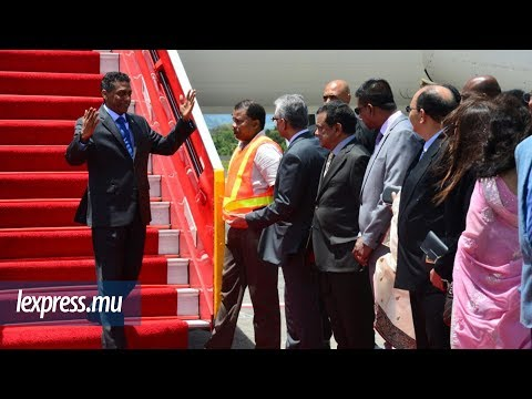 Arrivée de Danny Faure: tout le gratin politique présent pour accueillir le président seychellois