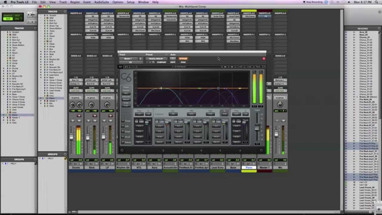 intro to mixing w multiband compression waves c6 youtube rh youtube com Multiband Compressor VST Side Chain Plugin