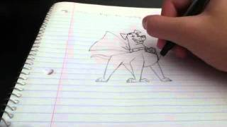 Amateur notebook drawings #13: Krypto the Superdog