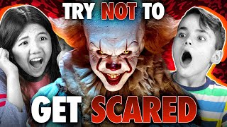 Kids Try Not To Get Scared Challenge (Scary Tik Toks, It Chapter 2, The Conjuring)