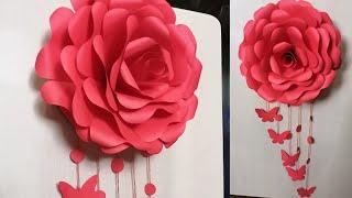 Rose Wall Hanging Craft - Wall decor craft idea