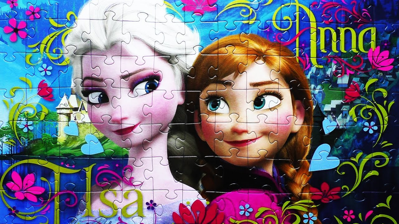 Disney Puzzle Game Frozen Rompecabezas De Elsa Play Kids