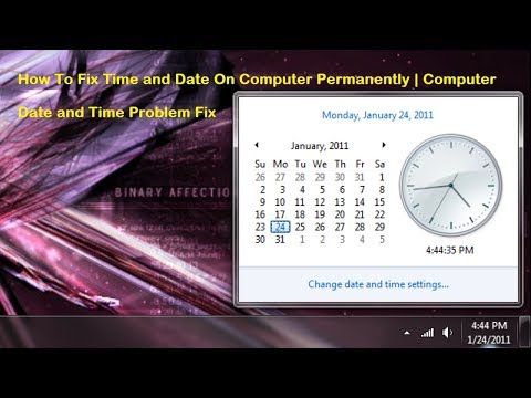 How To Fix Time And Date On Computer Permanently   Computer Date And Time Problem Fix