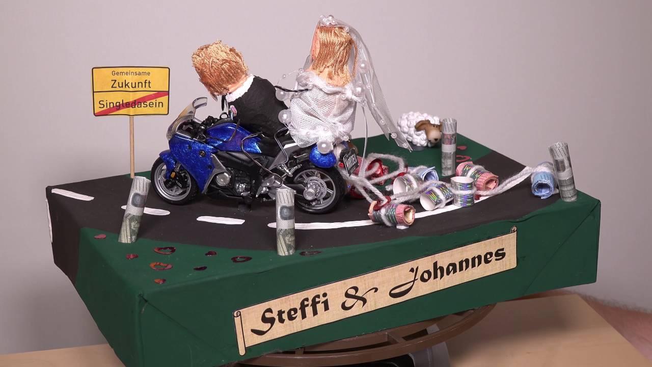 Motorrad Hochzeit Geschenk gedreht  YouTube