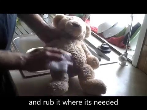 Arthur the Bear - cleaning 3