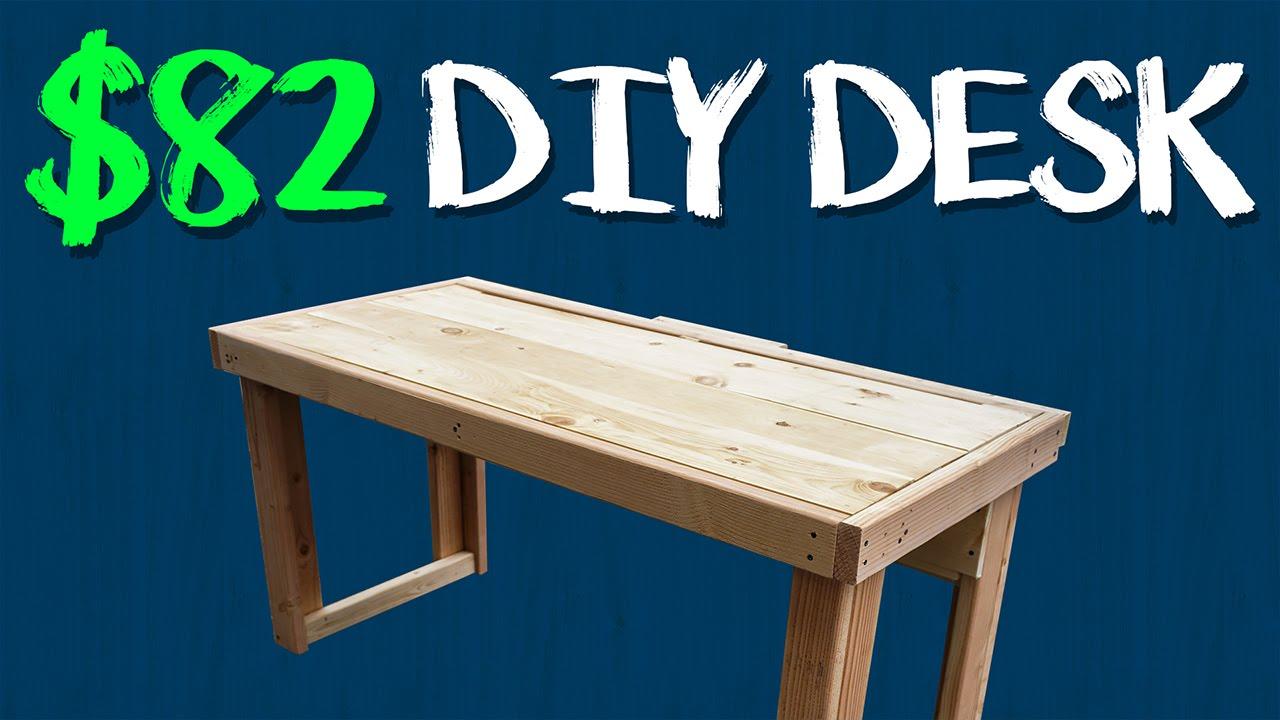 $82 DIY Custom Desk - YouTube
