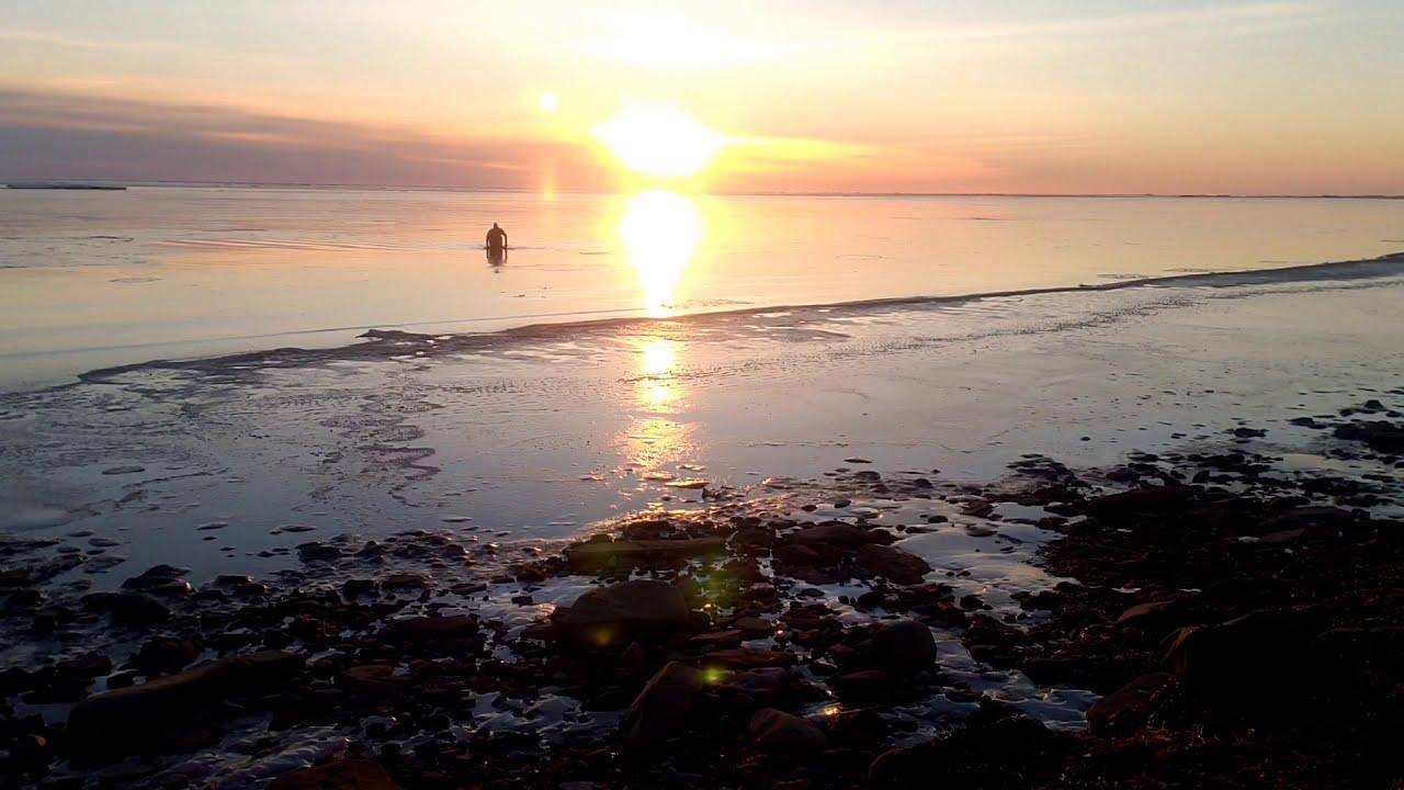 Chilly swim, Baie Verte -2.2C