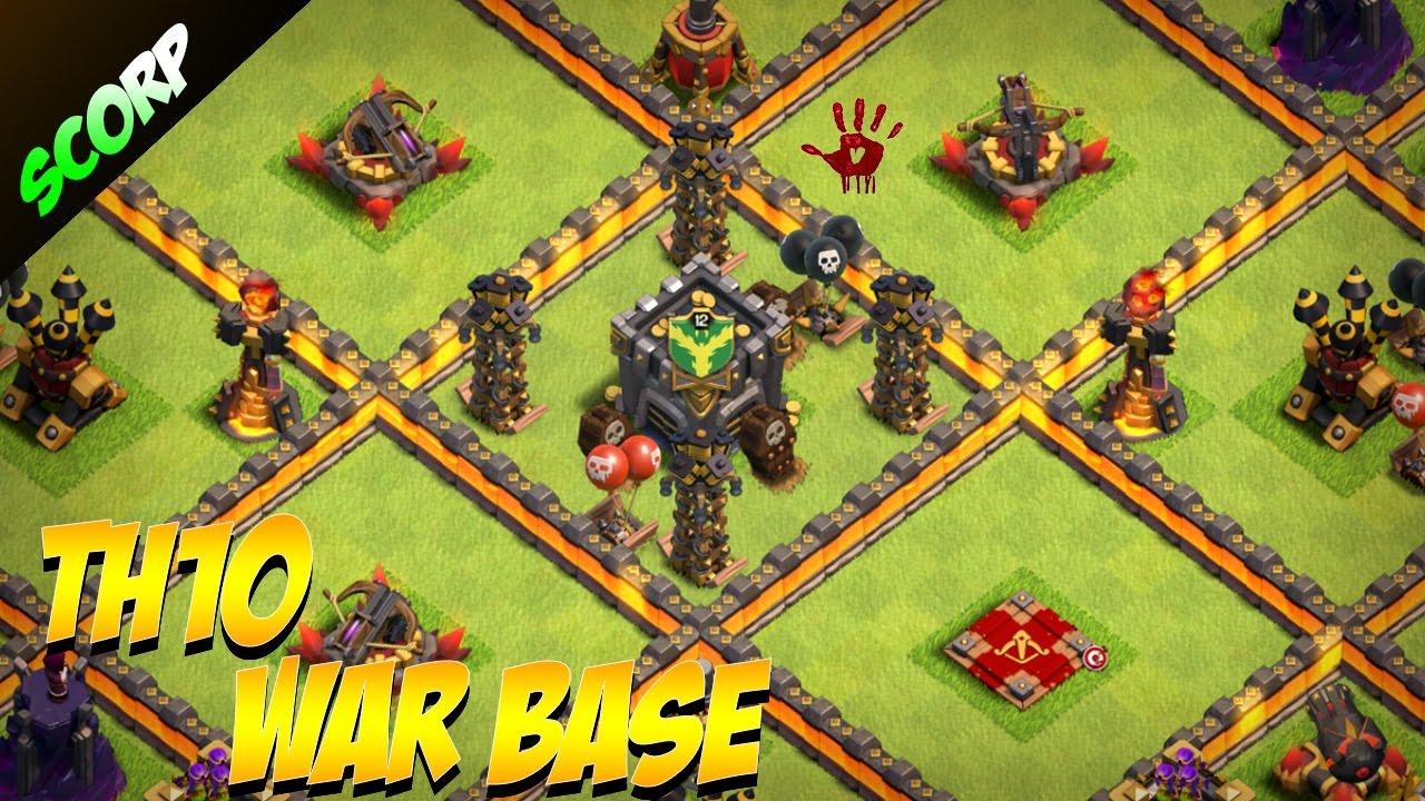Anti Coc Th 10 War Base 2