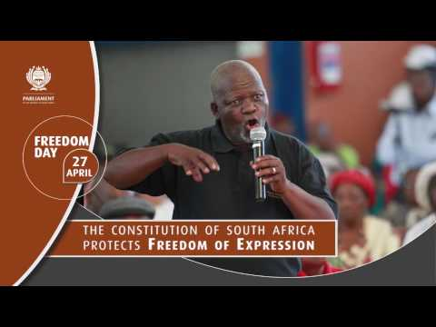 Freedom Day 2017.  Freedom is Protected by the Constitution of South Africa.