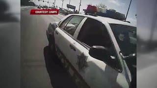 Las Vegas police: Suspect put gun to officer