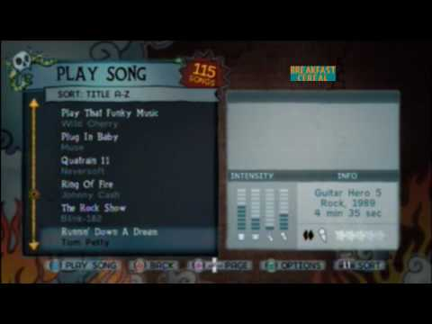 Guitar Hero 5 Song List With Previews Of Each Song And Ratings