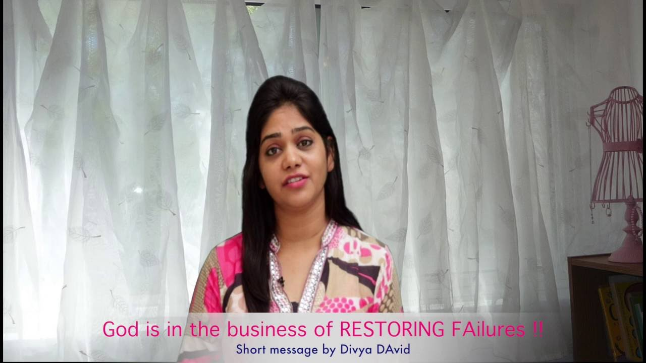 4 min English message  God Restores Failures  Official Divya David