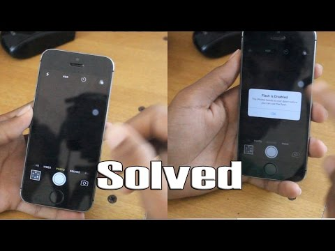 iPhone (5/5S/6/6S) Black Camera Problem And Flash Disabled problem