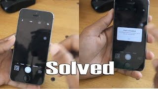 iPhone (5/5S/6/6S) Black Camera Problem And Flash Disabled problem Resimi
