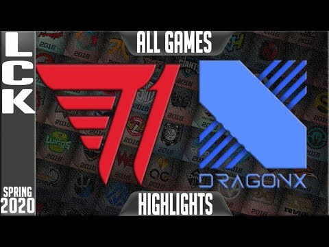T1 Vs DRX Highlights ALL GAMES | LCK Spring 2020 W3D1 | T1 Vs DragonX