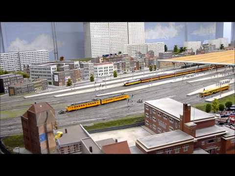 Biggest HO model railroad layout of Holland at Railz Rotterdam part 4. 23-2-2011