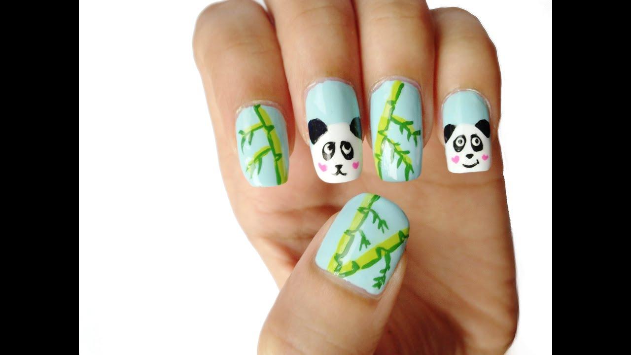 Cute Panda Nail Art Design Tutorial Youtube