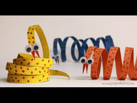 Serpiente manualidades con rollos papel higi nico youtube - Manualidades con rollos de papel higienico para navidad ...