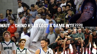 lamelo ball clutch chino hills finally lose a game oak hill vs chino hills highlights reaction