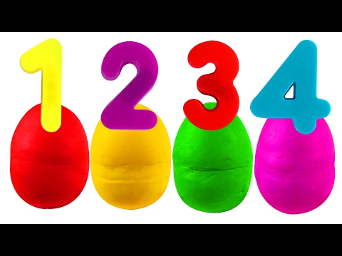 Play Doh Numbers Surprise  ABC Songs for Children, Kindergarten Kids Learn the Alphabet, Toys