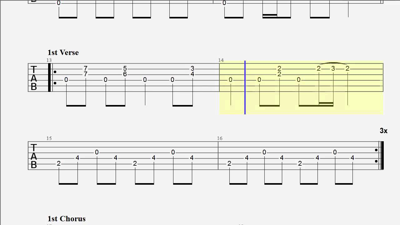 Guitar Tab Goodbye Blue Sky Drop D Tuning