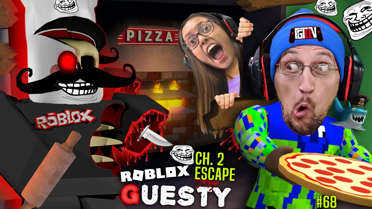 Roblox Guesty Troll Fgteev Escapes Papa Guesty S Pizza Restaurant