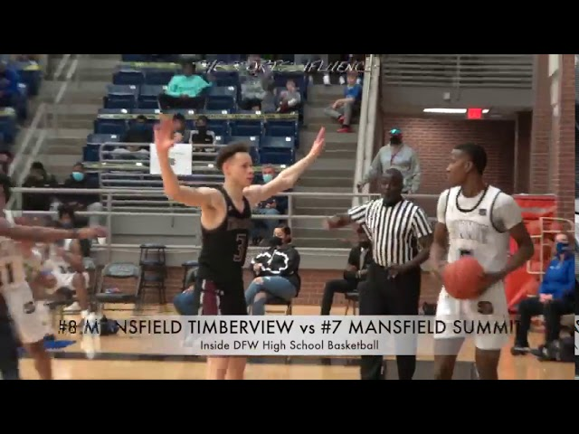 InsideDFWBasketball.com presents #8 Mansfield Timberview vs #7 Mansfield Summit FULL GAME HIGHLIGHTS