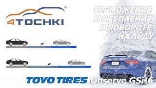 Toyo Observe GSi 6 - торможение и сцепление в повороте на льду