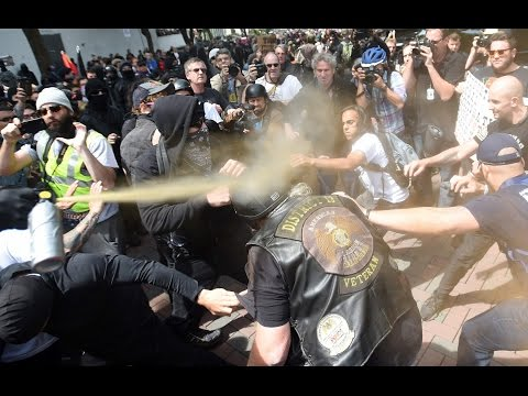 Trump's supporters, opponents clash in California park
