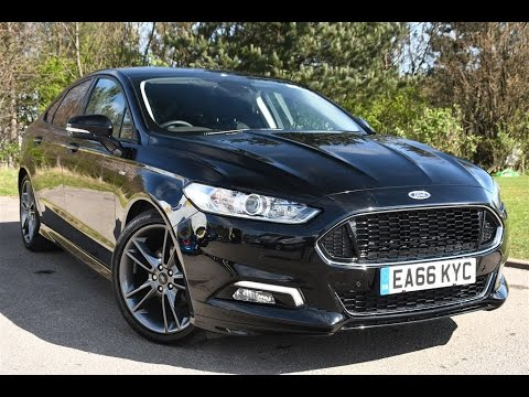 used ford mondeo 2 0 tdci 180 st line 5dr shadow black 2016 youtube. Black Bedroom Furniture Sets. Home Design Ideas
