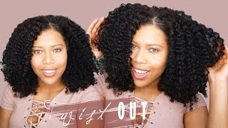 soft and defined twist out tutorial on natural hair samantha pollack