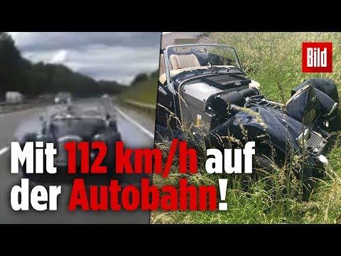 Schock-Moment! Sportauto crasht