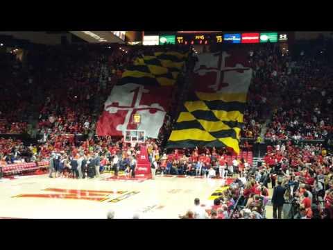 Flag Timeout Illinois at Maryland Basketball