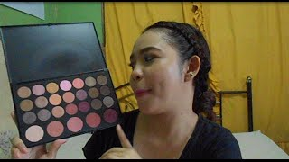 bh cosmetics 26 color palette neutral eyeshadow and blush swatches