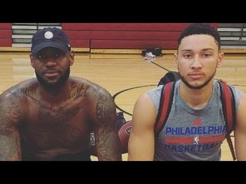 LeBron James Helps Ben Simmons Work on His 3-Point Shot